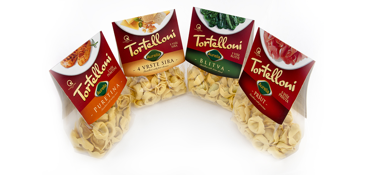Package design for AURELIA Tortelloni