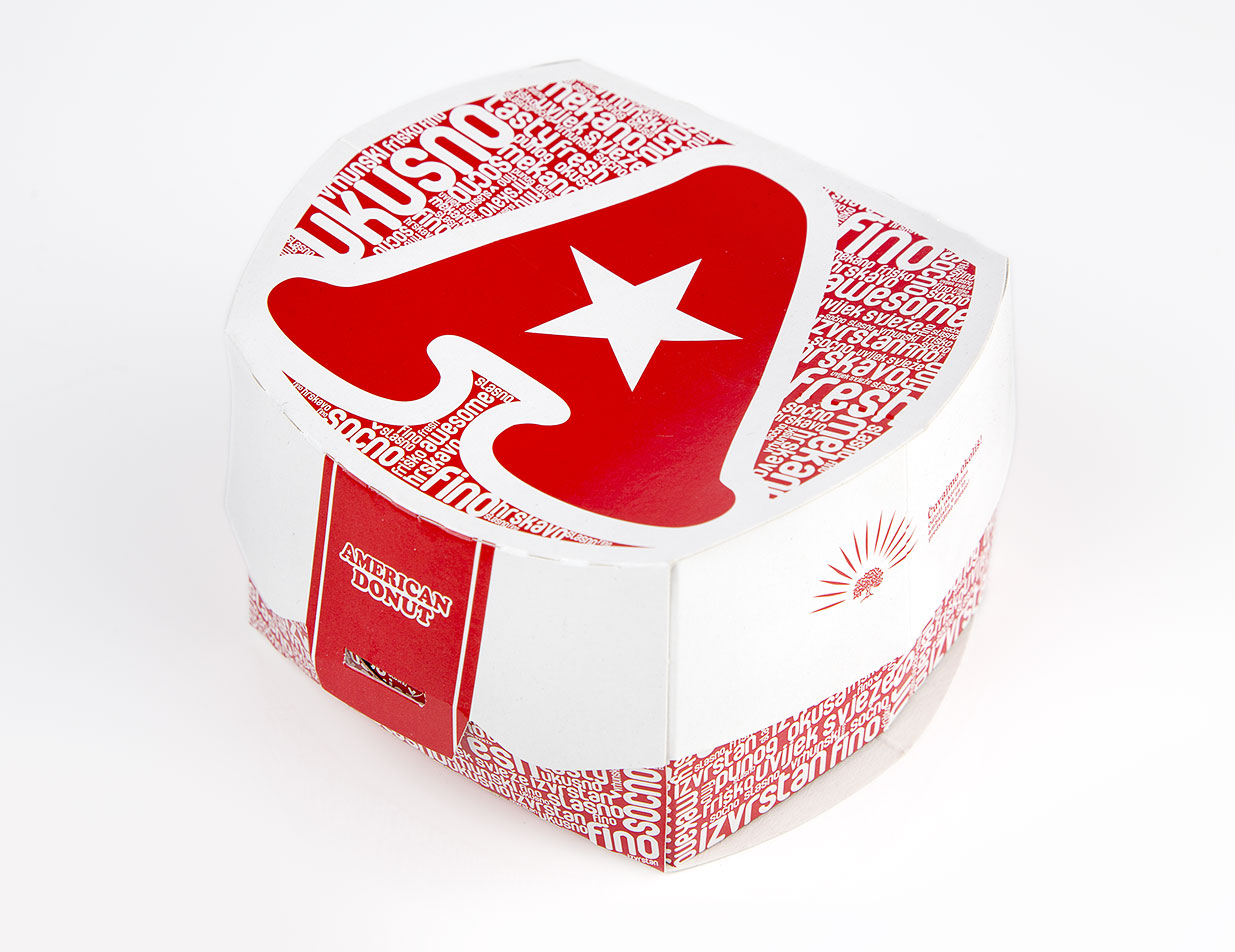 Hamburger American donut - Packaging graphic design  BERNARDIĆ STUDIO