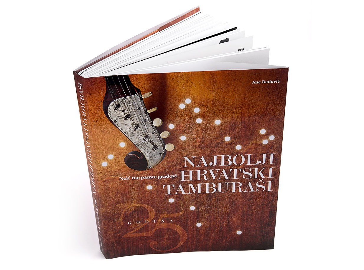 Design of the monograph  25 years of the Best Croatian Tamburitza Players - Zlatni dukati