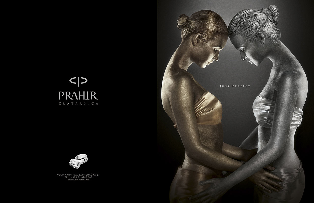 Design of the ad and entire Just Perfect campaign for PRAHIR Jewellers Bernardić studio