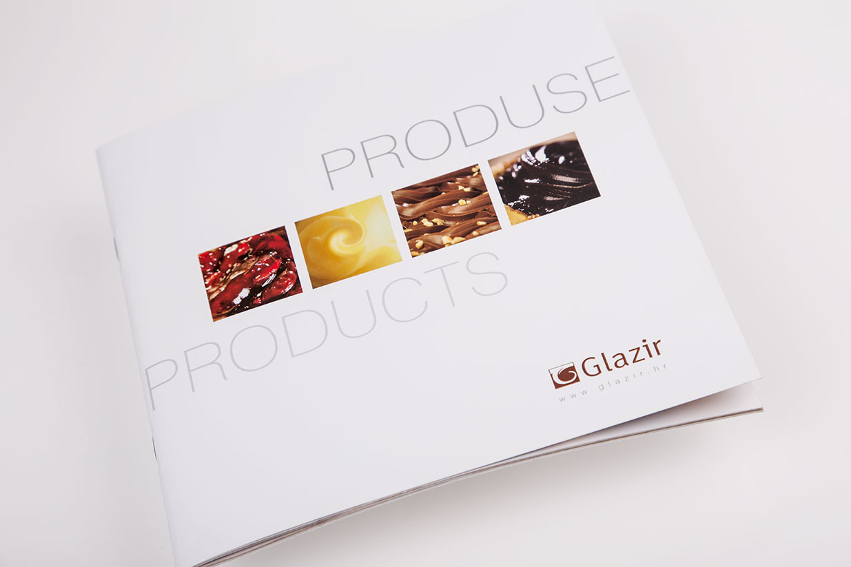 Design of product brochure for Glazir  BERNARDIĆ STUDIO