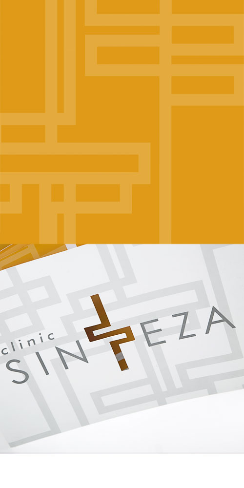 Design of the corporate brochure for Sinteza Polyclinic BERNARDIĆ STUDIO creative production
