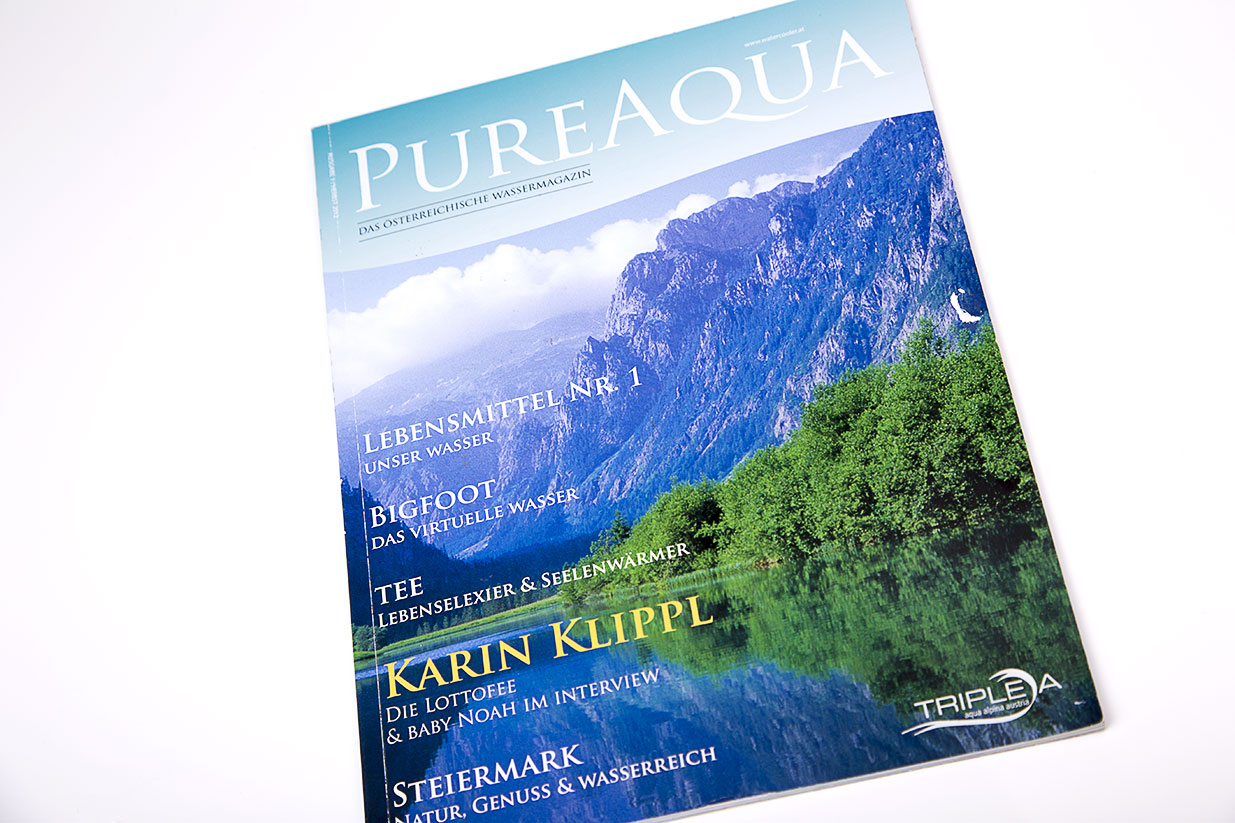 Magazine design for Pure Aqua - Bernardić studio