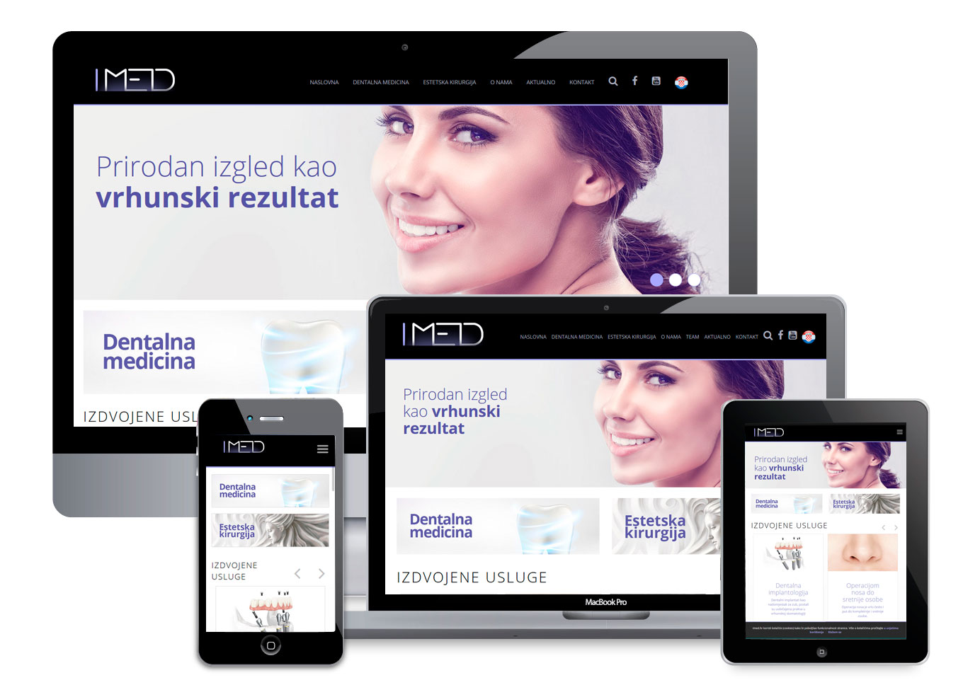 Graphic and web design - IMED Polyclinic