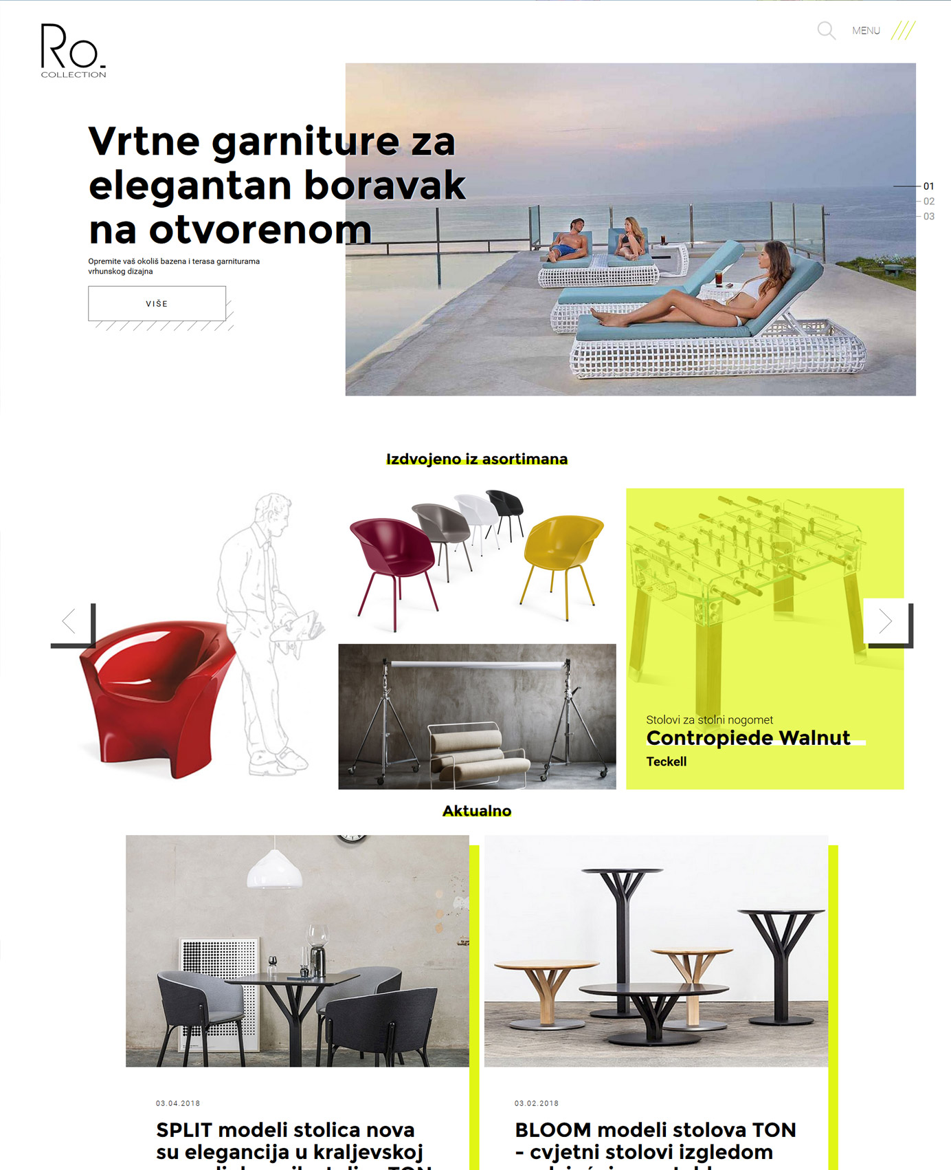 Dizajn i izrada web stranice - Ro. Collection - Bernardić studio