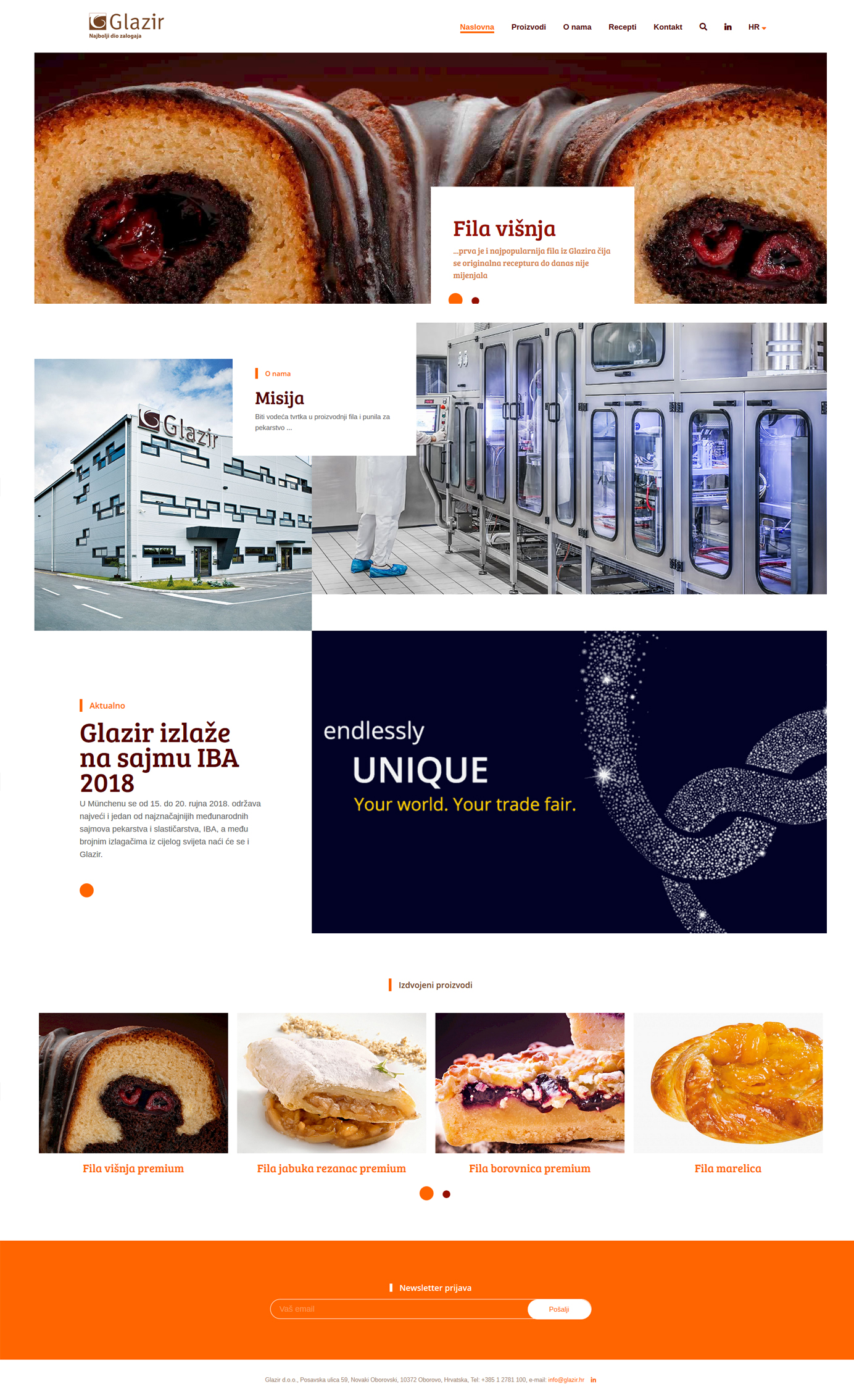Graphic and web design - GLAZIR production of fruit fillings, stuffings - BERNARDIĆ STUDIO