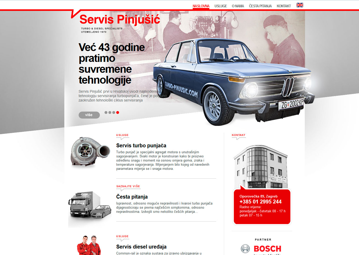 Graphic and web design - Pinjušić Services - BERNARDIĆ STUDIO