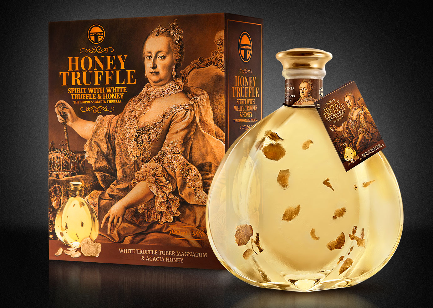 HONEY TARTUFINO BRANDY / packaging design for Brandy Truffle | BERNARDIĆ STUDIO