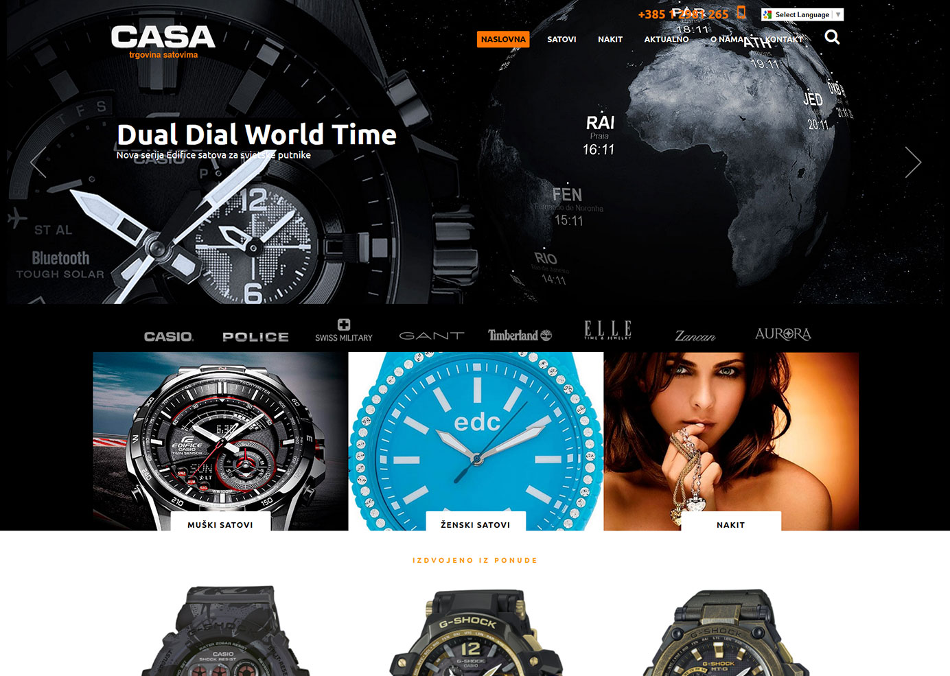 Creating a responsive website for the company CASA watch | BERNARDIĆ STUDIO